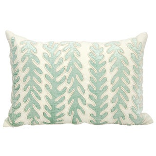 Mina Victory Luster Corals IvoryThrow Pillow by Nourison (12-Inch X 18-Inch)