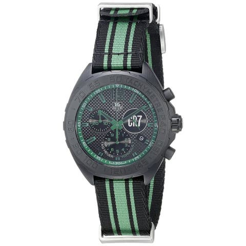 Tag Heuer Men's CAZ1113.FC8189 'Formula One' Chronograph Green and Black Canvas Watch