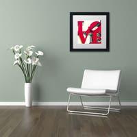 Philippe Hugonnard 'LOVE' Matted Framed Art