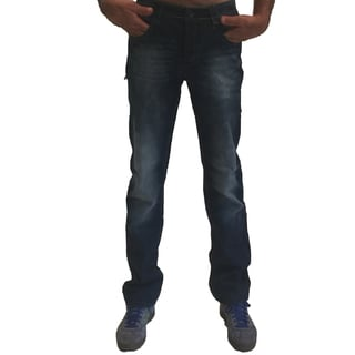 JT Men's DFMU-1004 Blue Cotton Straight Leg Jeans