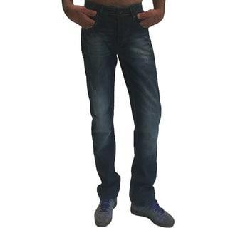 Dinamit Men's JSM Blue Cotton Denim Straight-leg Jeans