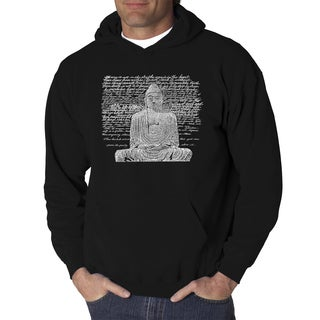 Los Angeles Pop Art Men's Zen Budda Black/Grey Cotton/Polyester Hooded Sweatshirt