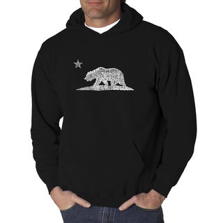 Men's California Bear Cotton and Polyester Hooded Sweatshirt