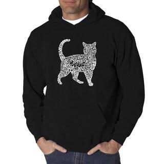 Los Angeles Pop Art Men's Cat Cotton/Polyester Hooded Sweatshirt