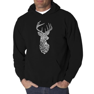 Los Angeles Pop Art Men's Types of Deer Black/Grey Cotton/Polyester Hooded Sweatshirt
