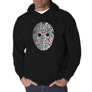 Men's Slasher Movie Villains Black/Grey Cotton Hooded Sweatshirt