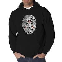 Men's Slasher Movie Villains Black/Grey Cotton Hooded Sweatshirt