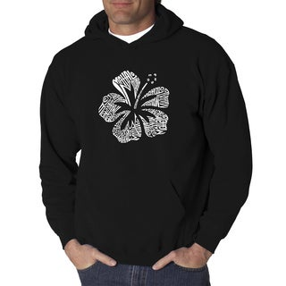 Men's Black/Grey Cotton/Polyester 'Mahalo' Hooded Sweatshirt