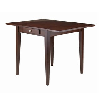 Winsome Hamilton Walnut Brown Wood Leaf Dining Table
