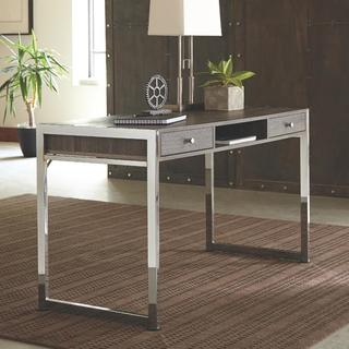 Marlow Grey Wood/Metal 3-drawer Computer Desk