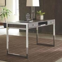 Marlow Grey Wood/Metal 3-drawer Computer Desk