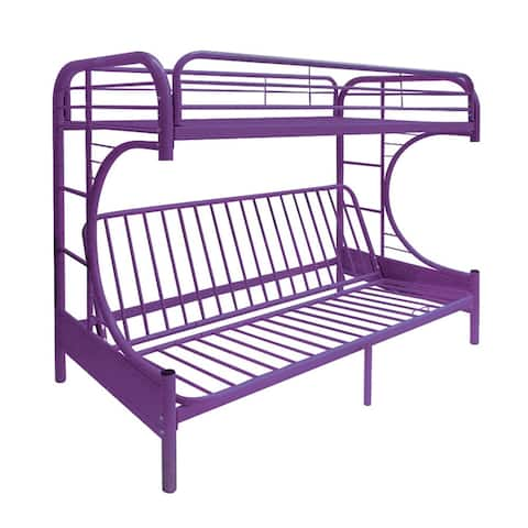 Futon Bunk Bed, Twin/Full, Purple