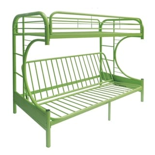 Eclipse Lime Green Metal Twin/Full Bunk Bed and Futon