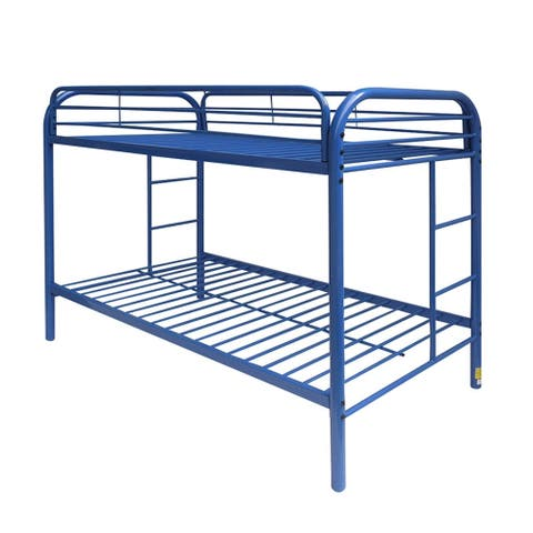 Thomas Blue Metal Twin-over-Twin Bunk Bed