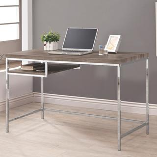 Tanis GRey Wood/Chrome Writing Desk