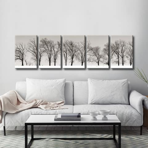 Winter Trees' 5-Pc Nature Photography Canvas Print Set