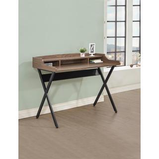 Garrick Walnut/Black Wood/Veneer Writing Desk