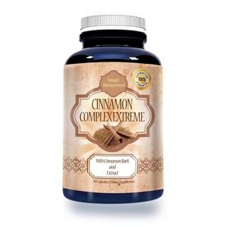 Cinnamon Bark Extract 1,000-milligram High-potency Dietary Supplement (90 Capsules)
