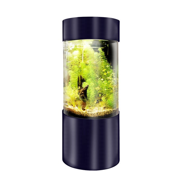 Shop Vepotek Black Glossy Acrylic 360 Degree Cylinder Fish