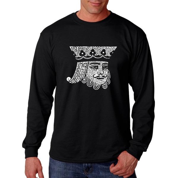 Mens King of Spades Black Cotton Long-sleeve T-shirt