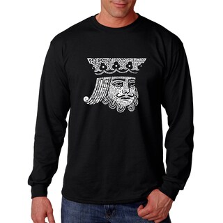 Men's King of Spades Black Cotton Long-sleeve T-shirt