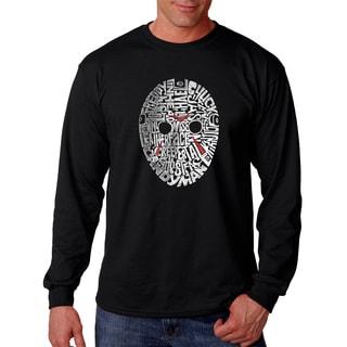 Men's Slasher Movie Villains Black Cotton Long-sleeve T-shirt