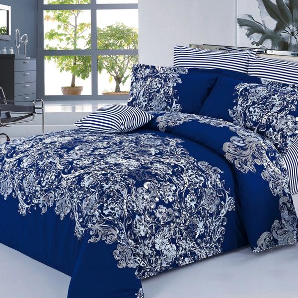 Alexis 100-percent Cotton 4-piece Duvet Cover Set