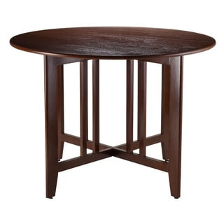 Winsome Mission Style Foldable Alamo 42-inch Double Drop-leaf Round Table