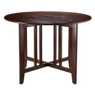 Winsome Mission Style Foldable Alamo 42 Inch Double Drop Leaf Round Table