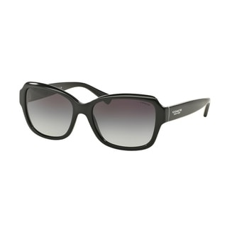 Coach Womens HC8160 500211 Black Oval Plastic Sunglasses