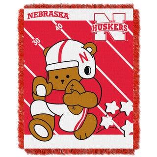 Nebraska Huskers Acrylic Baby Blanket