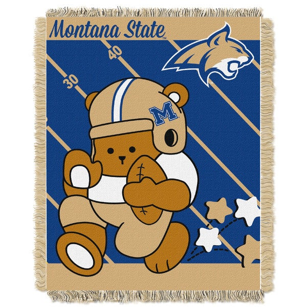 COL 044 Montana State Acrylic Official Collegiate Baby Blanket