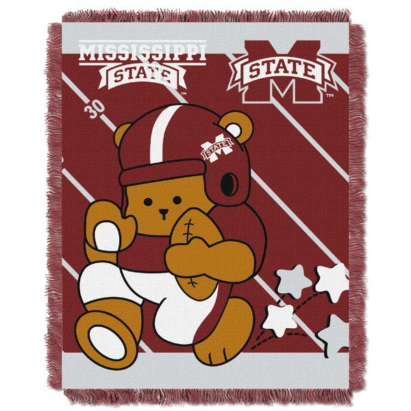 COL 044 Mississippi State Multicolor Acrylic Baby Blanket