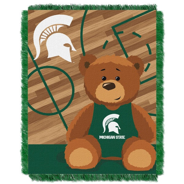 COL 044 Michigan State Multcolor Acrylic Baby Blanket