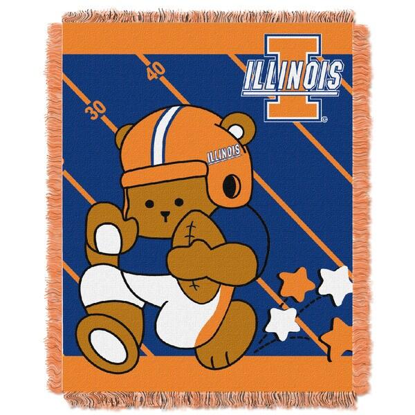 COL 044 Illinois Multicolor Acrylic Baby Blanket