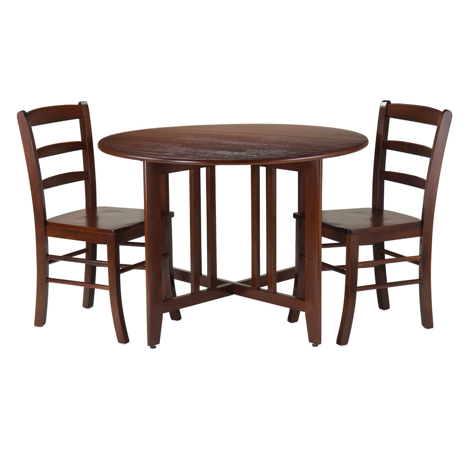 Winsome Alamo Walnut-finish Wood 3-piece Dining Set With ...