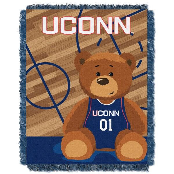 COL 044 UCONN Multicolor Acrylic Baby Blanket