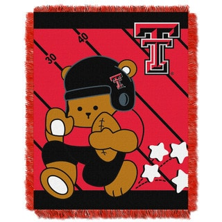 Multicolored Woven Acrylic Texas Tech Baby Blanket