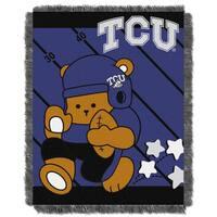 COL 044 TCU Multicolor Acrylic Baby Blanket