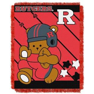 COL 044 Rutgers Multicolor Acrylic Baby Blanket
