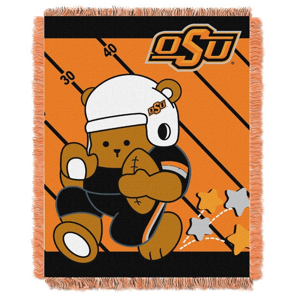 COL 044 Oklahoma State Multicolor Acrylic Baby Blanket