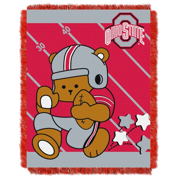 Multicolored Acrylic Ohio State Baby Blanket