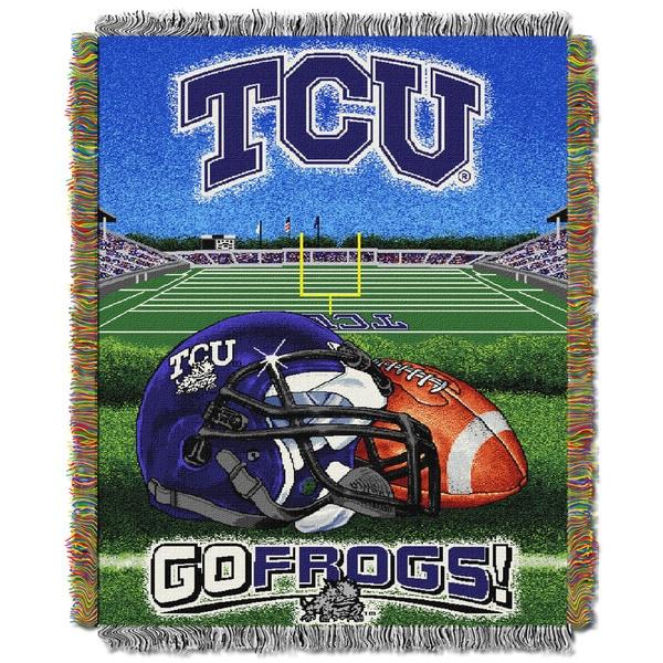 COL 051 TCU HFA Multicolor Polyester Tapestry