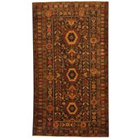 Herat Oriental Afghan Hand-knotted 1980s Semi-antique Tribal Balouchi Wool Rug (3'9 x 6'10) - 3'9 x 6'10