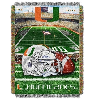 COL 051 Miami Hurricanes Handwoven Tapestry Throw