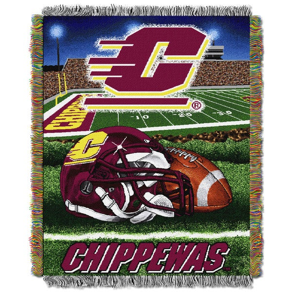 COL 051 Central Michigan HFA Polyester Woven Tapestry Throw