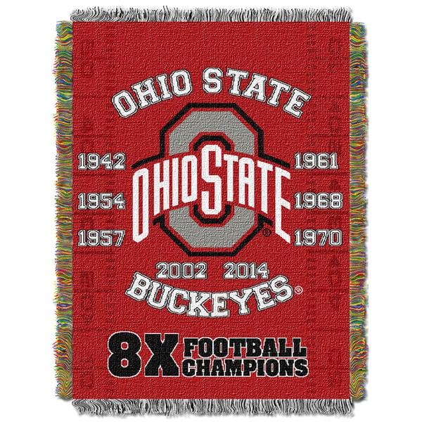 COL 051 Ohio State Commemorative Series Woven Tapestry