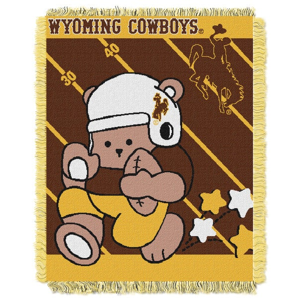 COL 044 Acrylic Wyoming Official Collegiate Baby Blanket