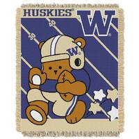 COL 044 Washington Huskies Acrylic Baby Throw