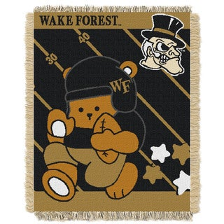 COL 044 Acrylic Wake Forest Official Collegiate Baby Blanket